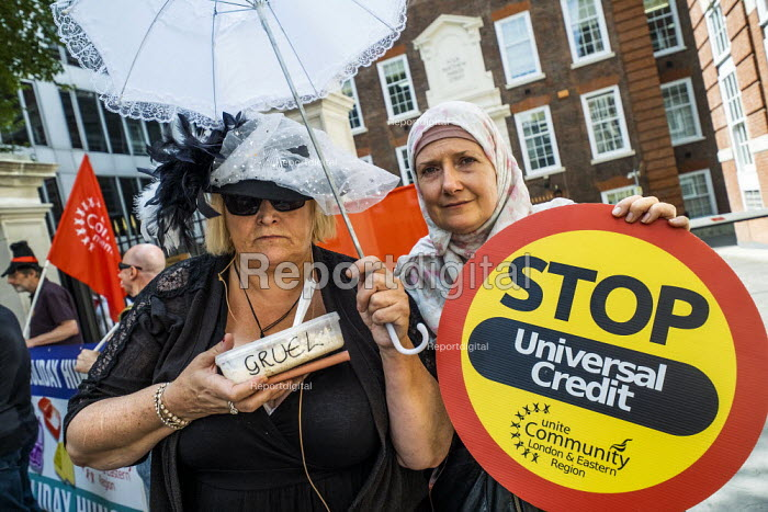 Protest against Universal Credit and holiday hunger, Unite Community National Day of Action against Poverty, Conservative Party HQ, London - Jess Hurd - 2019-08-01