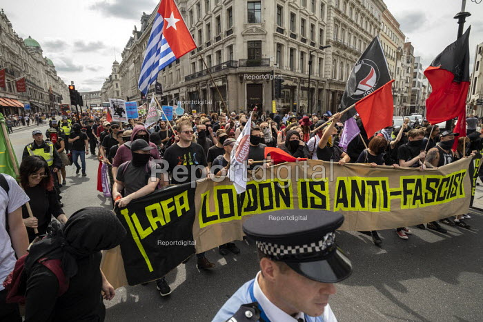 LAFA London Anti Fascist Assembly against Free Tommy Robinson protest, London - Jess Hurd - 2019-08-03