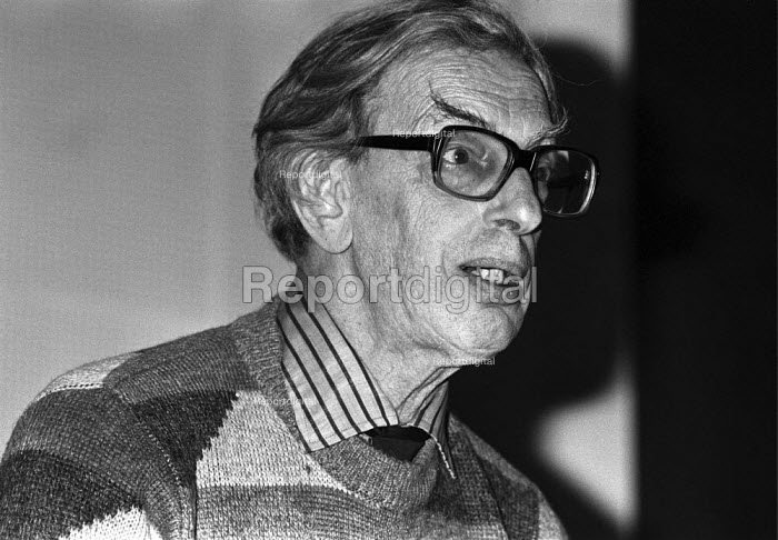 Eric Hobsbawm speaking Marxism Today joint Labour Party Communist Party meeting, London 1984 - NLA - 1984-02-07