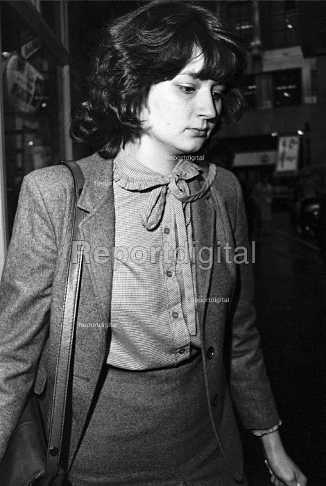 Sarah Tisdall, FCO clerical officer, 1984 jailed for 6 months for leaking government documents to The Guardian detailing when American nuclear cruise missiles would be arriving in Britain. The Guardian complied with a court order to hand over the documents, leading to a six month jail sentance for Tisdall under the Offical Secrets Act - Ray Rising - 1984-01-10