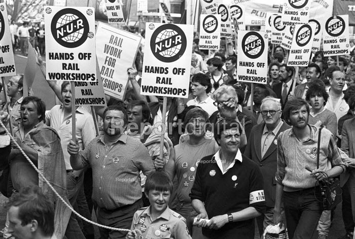 Day of action against the closure of British Rail workshops, Derby 1984 - NLA - 1984-08-10