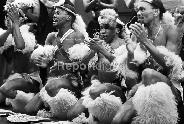 Amandla ANC Cultural Ensemble production, London 1985, liberation music against Apartheid in South Africa - NLA - 1985-09-05