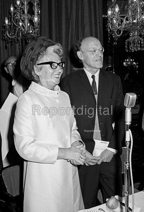 Mary Whitehouse and Lord Longford 1971, Foyles Literary Luncheon, Charing Cross Road, London - NLA - 1971-10-07