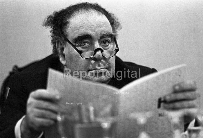 Lord Goodman, Housing Association press conference, London 1975 - NLA - 1975-10-02