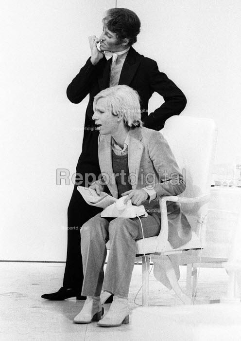 Anthony Zanetta as B. Marlowe, PORK by Andy Warhol, Roundhouse Theatre London 1971 - Chris Davies - 1971-07-03