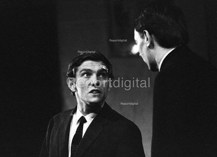 Actor Tom Courtenay as Andri in Andorra by Max Frisch and directed by Lindsay Anderson Old Vic Theatre London 1964Actor Tom Courtenay as Andri in Andorra by Max Frisch and directed by Lindsay Anderson Old Vic Theatre London 1964Actor Tom Courtenay as Andri in Andorra by Max Frisch and directed by Lindsay Anderson Old Vic Theatre London 1964Actor Tom Courtenay as Andri in Andorra by Max Frisch and directed by Lindsay Anderson Old Vic Theatre London 1964 - Romano Cagnoni - 1964-01-28