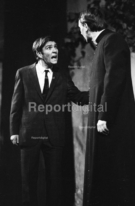 Tom Courtenay as Andri and Robert Stephens as Father Benedict in Andorra by Max Frisch and directed by Lindsay Anderson Old Vic Theatre London 1964Tom Courtenay as Andri and Robert Stephens as Father Benedict in Andorra by Max Frisch and directed by Lindsay Anderson Old Vic Theatre London 1964Tom Courtenay as Andri and Robert Stephens as Father Benedict in Andorra by Max Frisch and directed by Lindsay Anderson Old Vic Theatre London 1964Tom Courtenay as Andri and Robert Stephens as Father Benedict in Andorra by Max Frisch and directed by Lindsay Anderson Old Vic Theatre London 1964 - Romano Cagnoni - 1964-01-28