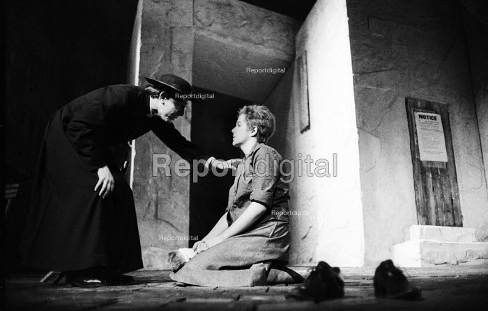 Robert Stephens as Father Benedict and Lynn Redgrave as Barblin in Andorra by Max Frisch and directed by Lindsay Anderson Old Vic Theatre London 1964Robert Stephens as Father Benedict and Lynn Redgrave as Barblin in Andorra by Max Frisch and directed by Lindsay Anderson Old Vic Theatre London 1964Robert Stephens as Father Benedict and Lynn Redgrave as Barblin in Andorra by Max Frisch and directed by Lindsay Anderson Old Vic Theatre London 1964Robert Stephens as Father Benedict and Lynn Redgrave as Barblin in Andorra by Max Frisch and directed by Lindsay Anderson Old Vic Theatre London 1964 - Romano Cagnoni - 1964-01-28