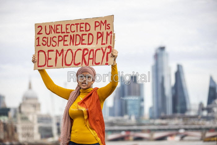 Stop The Coup, defend democracy protest, Downing Street, Westminster, London. - Jess Hurd - 2019-08-31