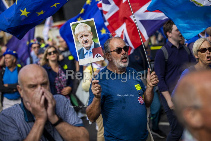 Stop The Coup protests for and against the government during the Brexit vote, Westminster, London - Jess Hurd - 2019-09-03