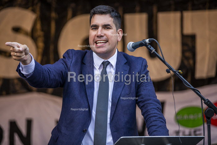 Richard Burgon MP speaking Stop Boris Johnson - General Election Now, People's Assembly Against Austerity protest, Parliament Square, Westminster, London - Jess Hurd - 2019-09-03