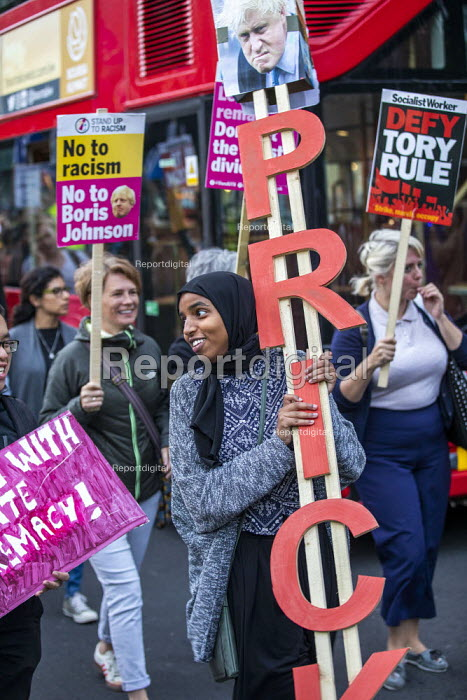 Stop Boris Johnson - General Election Now, People's Assembly Against Austerity protest, Parliament Square, Westminster, London - Jess Hurd - 2019-09-03
