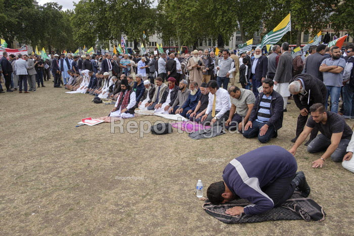 Kashmiris protest outside Parliament after India took control of Kashmir, London - Philip Wolmuth - 2019-09-03