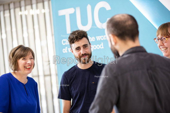 Frances O'Grady, TUC Press Conference, TUC Congress, Brighton 2019. - Jess Hurd - 2019-09-08