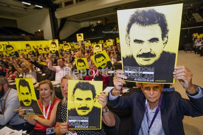 Dave Prentis, UNISON, Freedom for Ocalan, TUC Congress, Brighton 2019. - Jess Hurd - 2019-09-08