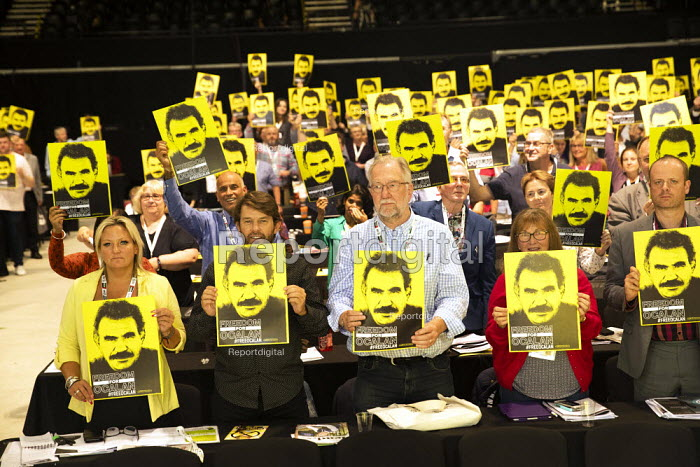 Freedom for Ocalan, TUC Congress, Brighton 2019. - Jess Hurd - 2019-09-08