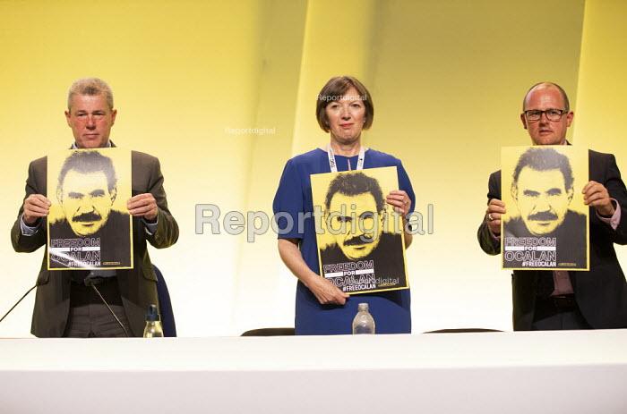 Freedom for Ocalan, TUC Congress, Brighton 2019. - Jess Hurd - 2019-09-08