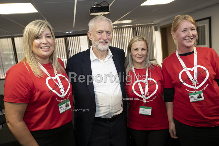 Jeremy Corbyn with Health Visitor strikers, TUC Congress, Brighton 2019. - Jess Hurd - 2019-09-10