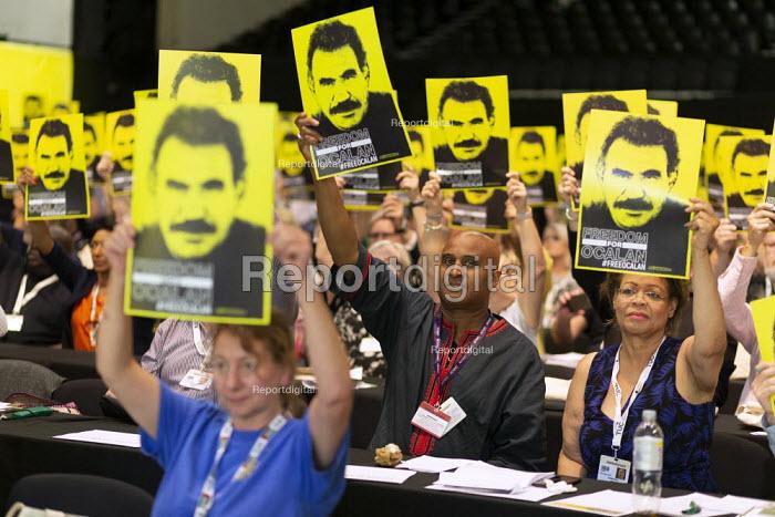 Freedom for Ocalan, TUC Conference, Brighton, 2019. Roger McKenzie, Unison - John Harris - 2019-09-13