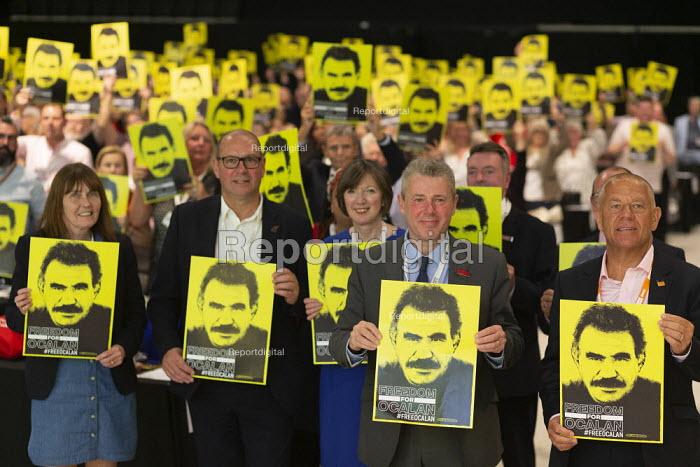 Freedom for Ocalan, TUC Conference, Brighton, 2019 - John Harris - 2019-09-13