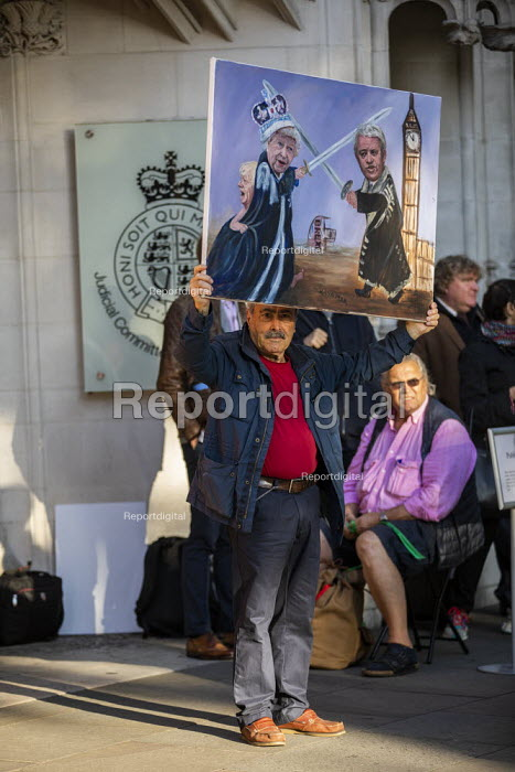 Artist Kaya Mar. Protest against the proroguing Parliament as it is challenged in the Supreme Court, Westminster, London - Jess Hurd - 2019-09-17