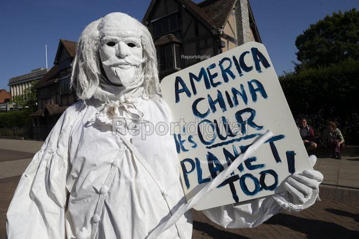 William Shakespeare, Global Climate Strike protest, Stratford-upon-Avon, Warwickshire - John Harris - 2019-09-20