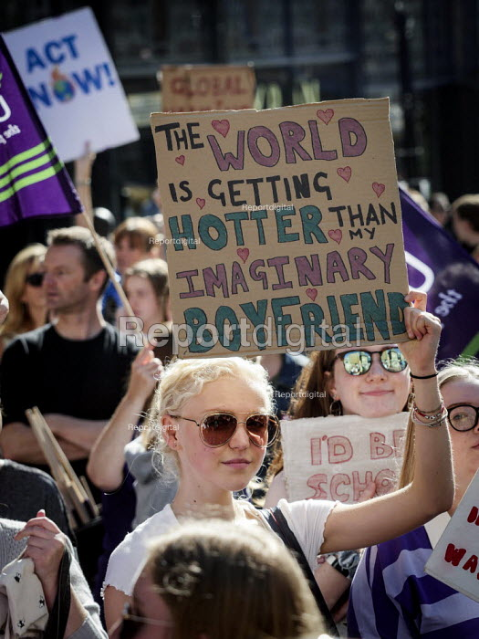 School pupils Global Strike Against Climate Change protest, Newcastle Upon Tyne - Mark Pinder - 2019-09-20