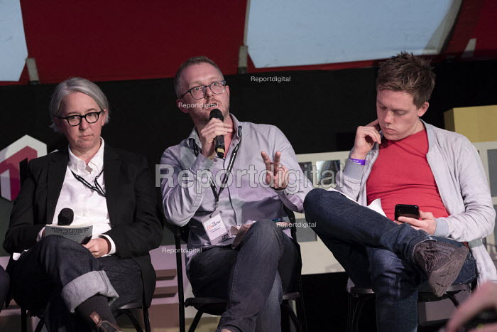 Becky Bond, James Meadway speaking, Owen Jones, How we win the next election, TWT, Brighton - John Harris - 2019-09-21