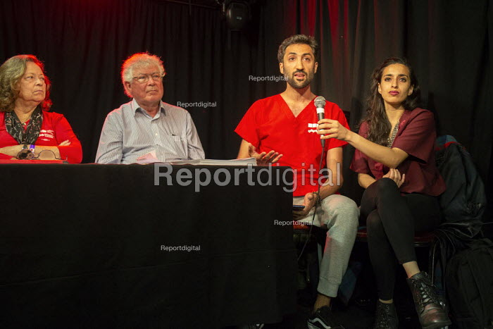 Dr Ameen Kamlana speaking, Taking the NHS off the table, TWT, Brighton - John Harris - 2019-09-22