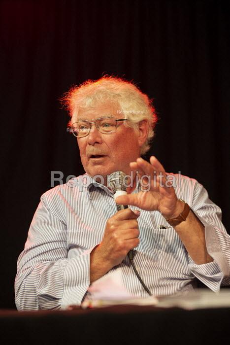 Dr John Lister speaking, Taking the NHS off the table, TWT, Brighton - John Harris - 2019-09-22
