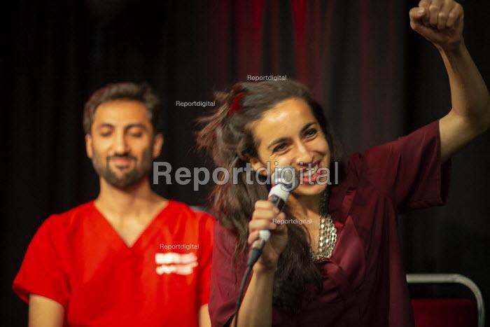 Dr Sonia Adesara speking, Taking the NHS off the table, TWT, Brighton - John Harris - 2019-09-22