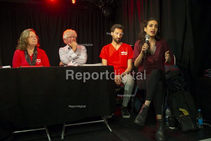 Dr Sonia Adesara speking, Taking the NHS off the table, TWT, Brighton - John Harris - 2019-09-22