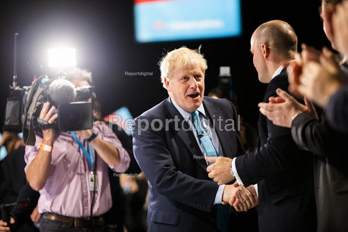 Boris Johnson speaking Conservative Party Conference, Manchester, 2019 - Jess Hurd - 2019-10-02