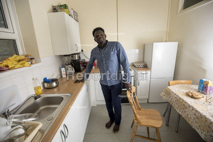Sudanese refugee living in a home renovated by Ashley Community housing, Bristol - Paul Box - 2018-04-24
