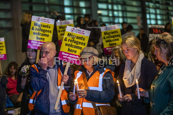 Vigil after 39 tragic migrant deaths, Home Office, London. End the hostile environment called by Stand up to Racism - Jess Hurd - 2019-10-24