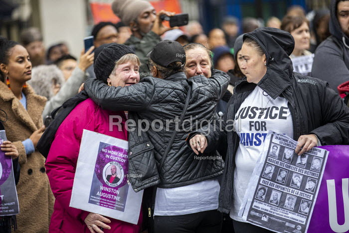 Justice for Winston Augustine, Annual United Families and Friends Campaign marching against deaths in police custody, Whitehall, Westminster, London. - Jess Hurd - 2019-10-26