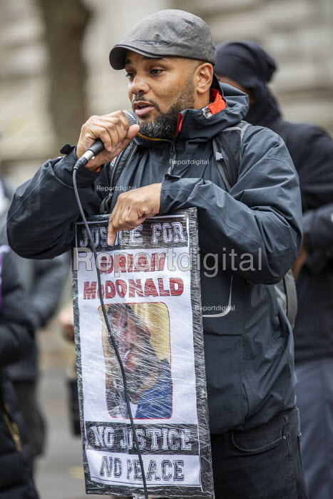 Justice for Adrian McDonald Annual United Families and Friends Campaign march against deaths in police custody, Whitehall, Westminster, London. - Jess Hurd - 2019-10-26