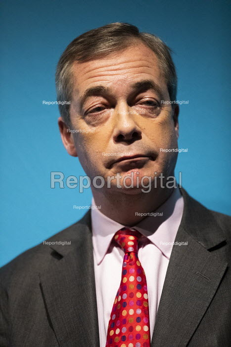 Nigel Farage speaking, Brexit Party General Election Contract launch, Millbank, London - Jess Hurd - 2019-11-22