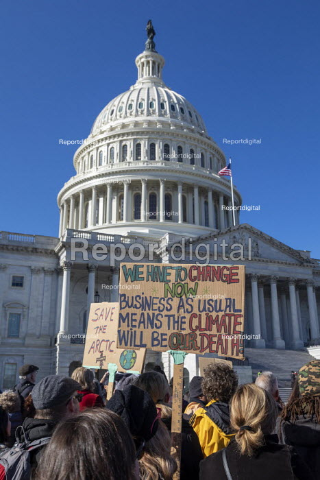 Washington DC, USA Fire Drill Friday protest for action on climate crisis, Capitol Building - Jim West - 2019-11-29