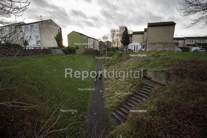 Pedestrians, Hazel Leys, Corby, Northamptonshire - John Harris - 2019-12-07
