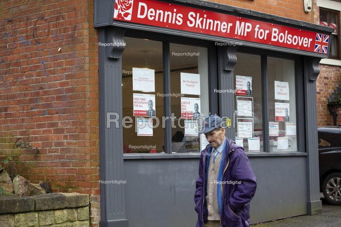 General Election Campaign office, Dennis Skinner MP, Bolsover, Derbyshire - John Harris - 2019-12-11