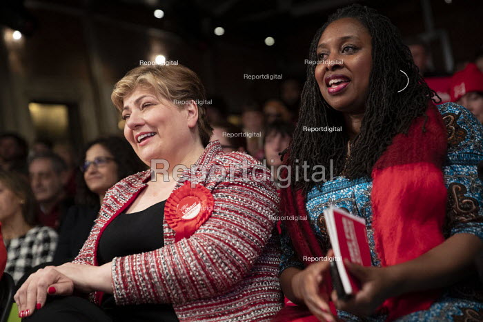 Emily Thornberry, Dawn Butler general election rally, Hoxton Docks, Hackney, East London - Jess Hurd - 2019-12-11