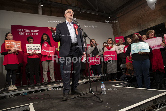 Jeremy Corbyn speaking, general election rally, Hoxton... - Jess Hurd, jj1912047.jpg