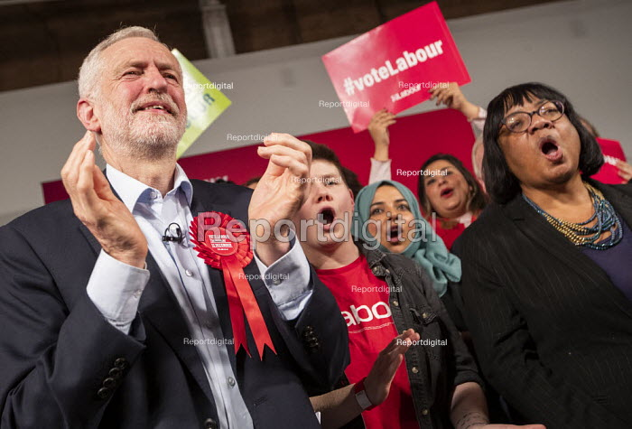 Jeremy Corbyn, Diane Abbot general election rally, Hoxton... - Jess Hurd, jj1912059.jpg
