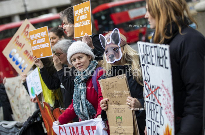 Demand Action on Australian Fires, Extinction Rebellion protest, Australian High Commission, London - Jess Hurd - 2020-01-10