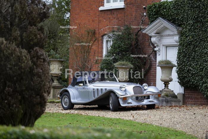 Silver Marlin sports car, country house, Warwickshire - John Harris - 2020-01-11