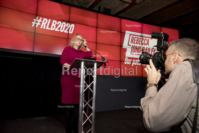 Rebecca Long-Bailey launching her Labour Party leadership campaign, The Science and Industry Museum, Manchester - Paul Herrmann - 2020-01-17