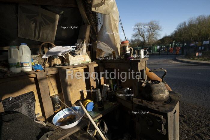 Stop HS2 protest camp against the destruction of 108 ancient woodlands, Colne Valley, Uxbridge - Jess Hurd - 2020-01-18