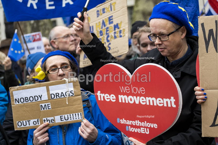 Remainers, Brexit Day, Westminster, London. - Jess Hurd, jj2001184.jpg