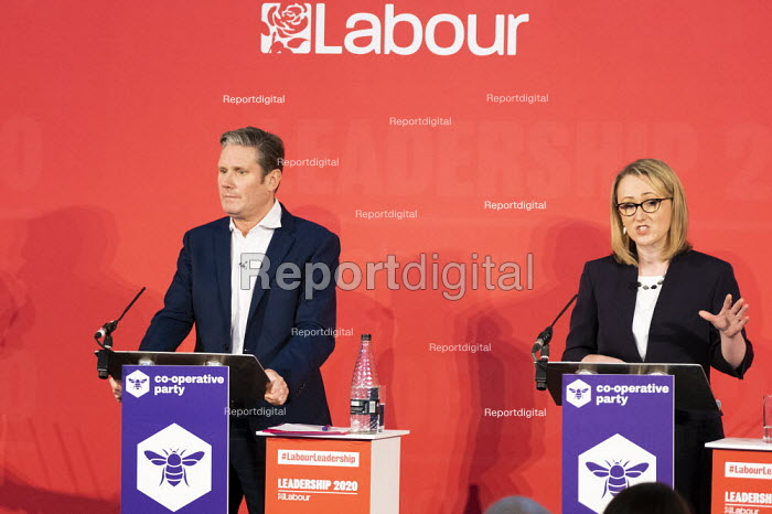 Keir Starmer, Rebecca Long Bailey, Labour Leadership Hustings, hosted by Co-coperative Party, Business Design Centre, North London. - Jess Hurd - 2020-02-16